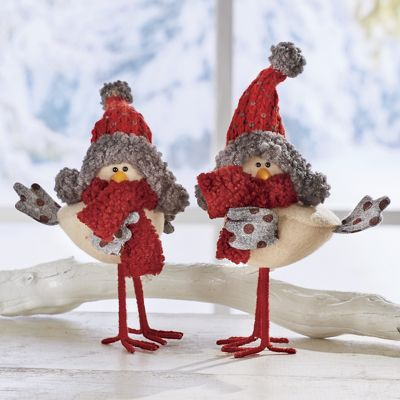Set of 2 Birds with Scarves