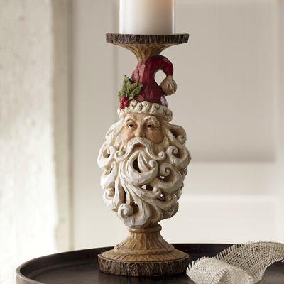 Santa Head Candleholder