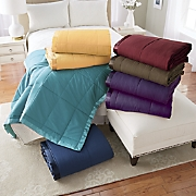 satin trimmed down alternative blanket 40