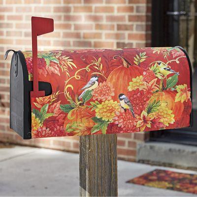 Pumpkins & Birds Mailbox Cover