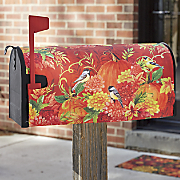 Pumpkins & Birds Mailbox Cover