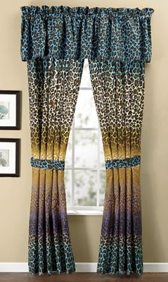 Leopard Ombre Window Treatments