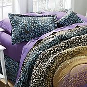 leopard ombre accent pillow