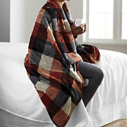 plaid heated throw by serta