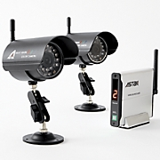 set of 2 surveillance cameras