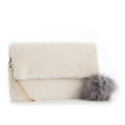 pomona faux fur clutch