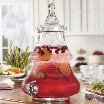 2-Gallon Christmas Tree Beverage Dispenser