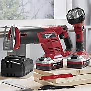 2-Piece Reciprocating Saw & Worklight Set and Rechargable Battery by Montgomery Ward