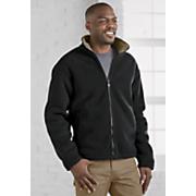 full zip sherpa lined fleece jacket