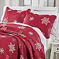 Embroidered Snowflake Sham