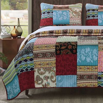 Bohemian Dream Quilt Set and Throw