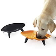 melamine double section pet bowl
