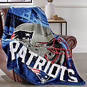nfl heritage micro raschel oversized throw