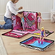 barbie zip toy box and playmat by mattel