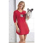 """Feliz Naughty Dog"" Nightgown"