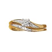 Round Frame Diamond Bridal Set