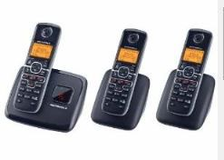 3-Handset Cordless Phone System by Motorola