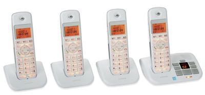 4 Handset Cordless Phone System by Motorola