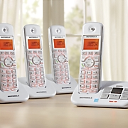 2 Handset Cordless Phone System with Answering Machine by Motorola