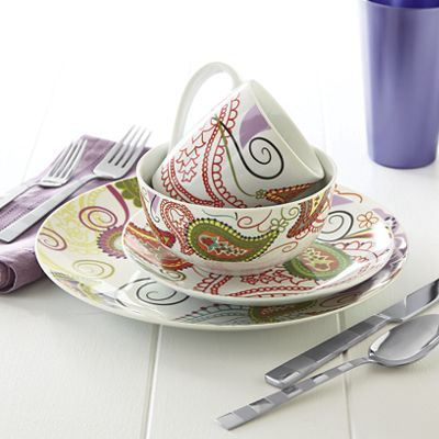 Paisley Fiorina Dinnerware Set  sc 1 st  Ginnyu0027s & Paisley Fiorina Dinnerware Set from Ginnyu0027s | JI756086