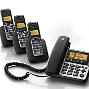 corded cordless phone system by motorola