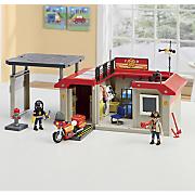take along fire station by playmobil