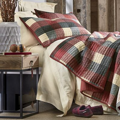 Ridge Plaid Quilt and Sham
