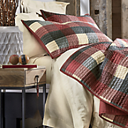 ridge plaid sham