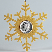 snowflake coin ornament