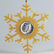 snowflake coin ornament