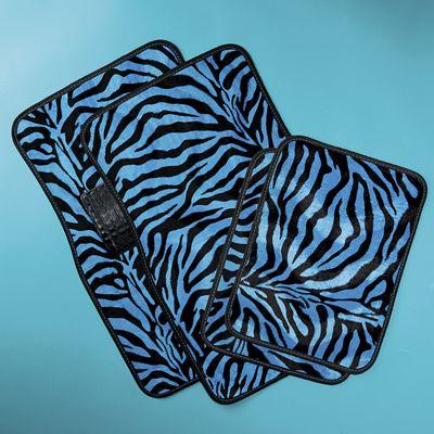 Zebra and Leopard Floor Mat Set