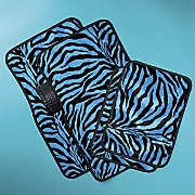 Zebra and Leopard Floor Mat Set