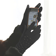 Studded Texting Gloves