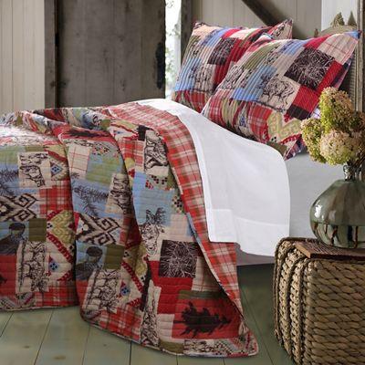 Rustic Lodge Quilt Set, Valance & Throw