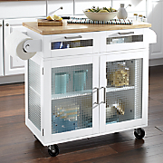 mobile kitchen island with glass doors 27