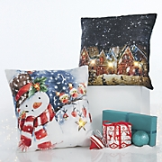holiday lights led pillow