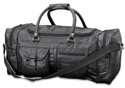 Patch Leather Duffle Bag
