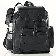 Patch Leather Backpack