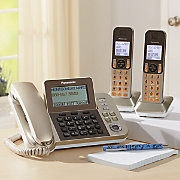 3 Handset Corded/Cordless Phone System by Panasonic