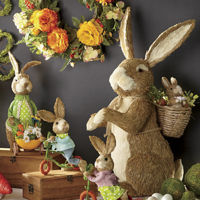 Large Cottontails Sisal Bunny with Backpack