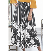 Flora Stripe Skirt