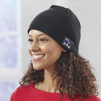 Knit Beanie with Bluetooth Speakers by iLive