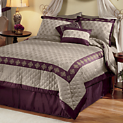 10 pc  marcella jacquard bed set and window treatments