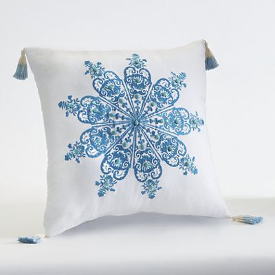 Aquarius Medallion Accent Pillow by Jessica Simpson