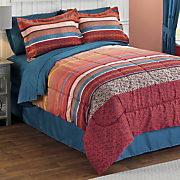 Fireside Complete Bed Set and Window Treatments