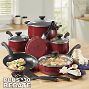 21-Piece Riverbend Speckled Cookware Set by Paula Deen