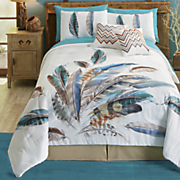 dream feathers mini comforter and accent pillow