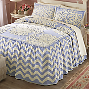 evelyn chenille bedspread and sham