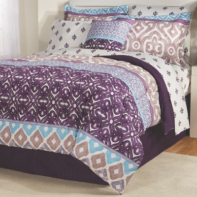 Ventura Complete Bed Set, Accent Pillow and Window Treatments