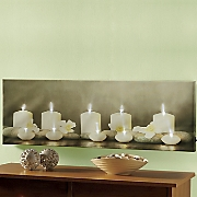 Lighted Candle Canvas Wall Art